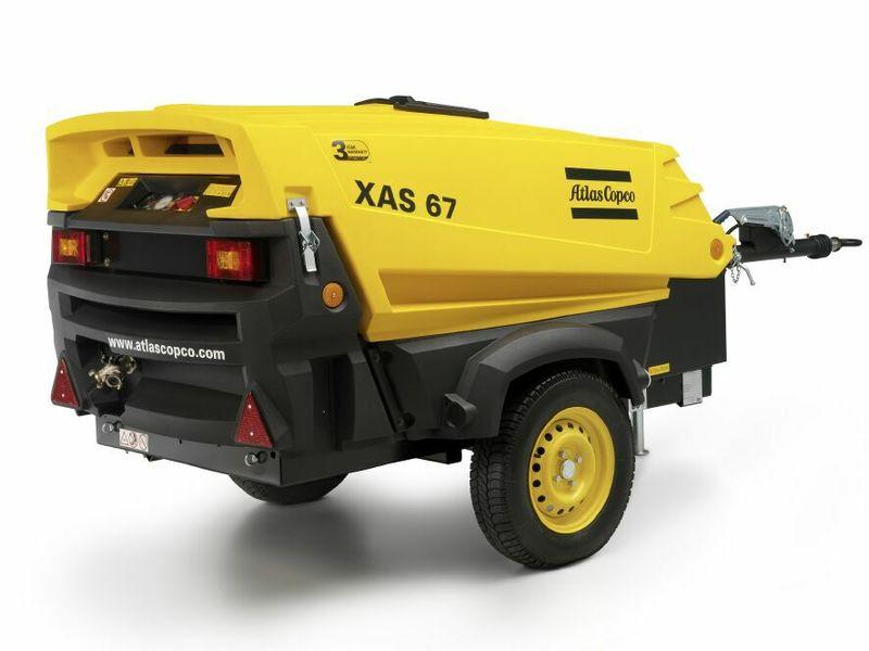 Atlas Copco 130 CFM Towable Diesel Compressor
